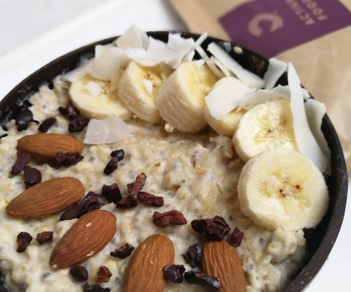 Powerfrühstück Bananen Porridge