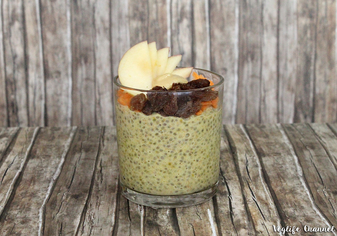 Chia-Pudding mit Karotte