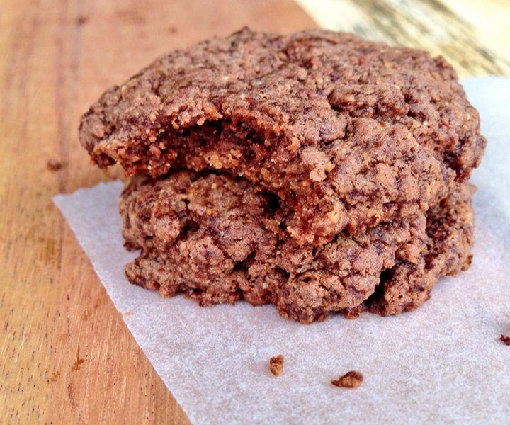 Schoko-Mandelbutter Cookies