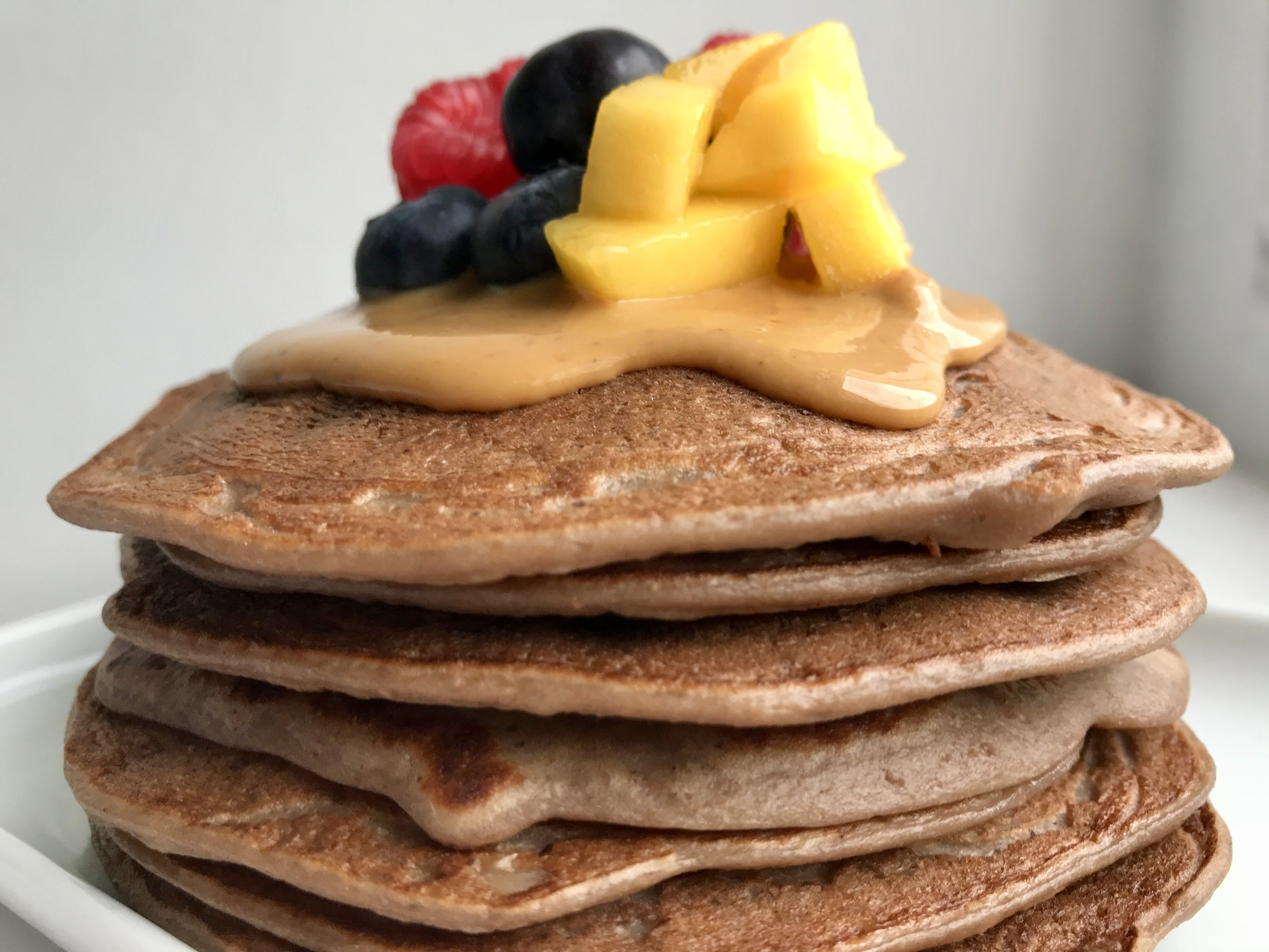 Schoko-Protein-Pancakes