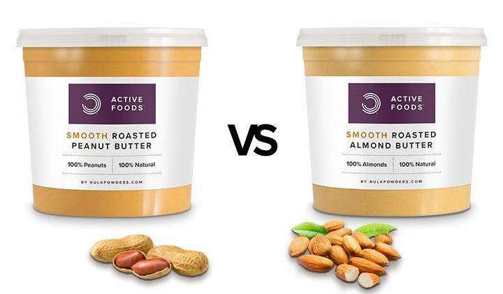 Erdnussbutter versus Mandelbutter