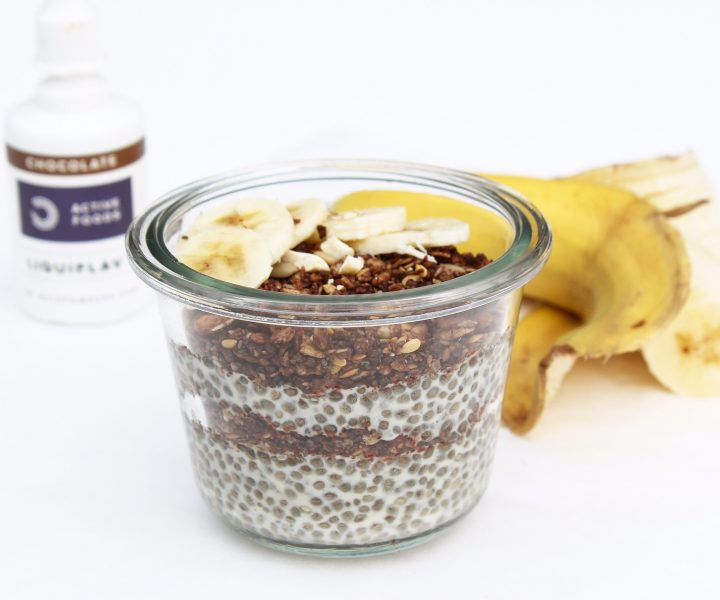 Proteinreicher Schokoladen-Chia Pudding