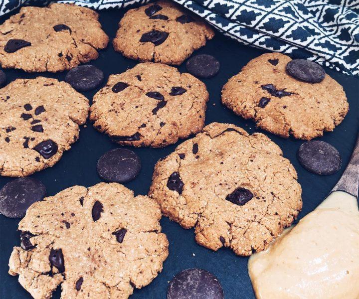 vegane Erdnussbutter Cookies
