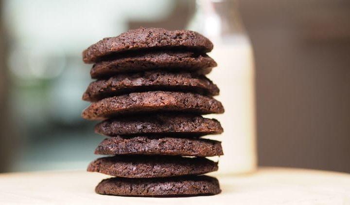 vegane double Chocolate Cookies