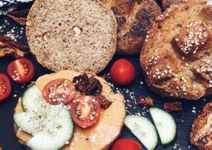 vegane proteinreiche Brötchen