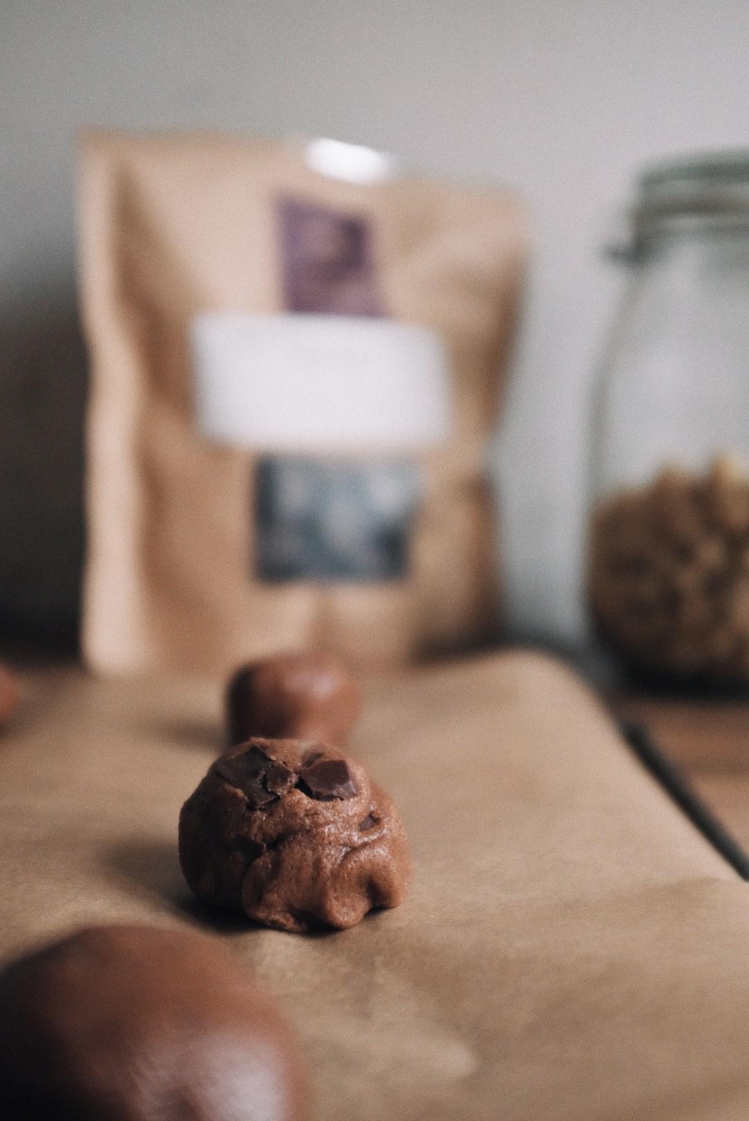 Zubereitung von Salted Caramel Cookies