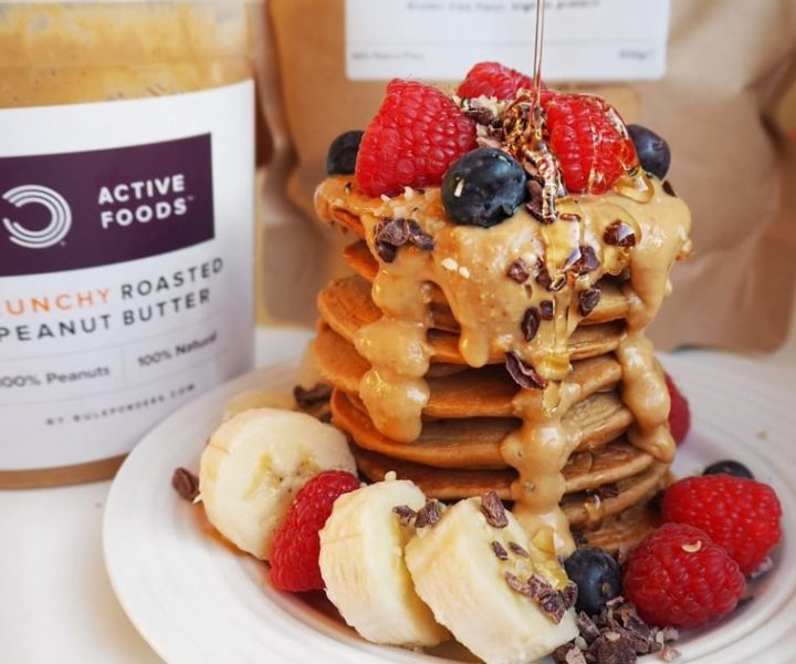 Double Peanutbutter Pancakes