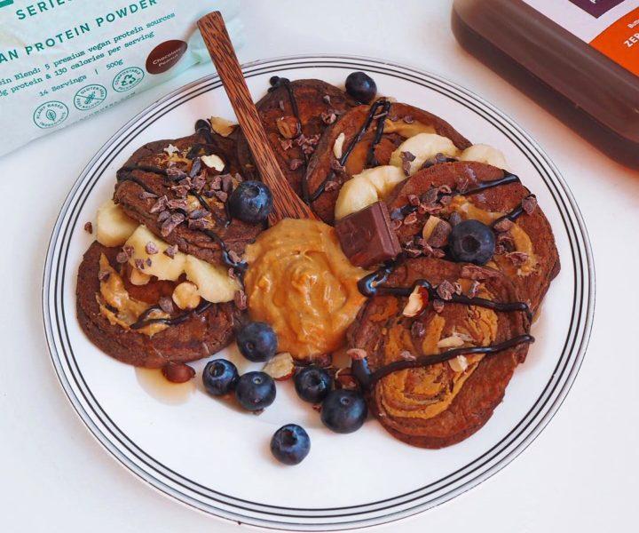 Peanutbutter-Chocolate-Pancakes