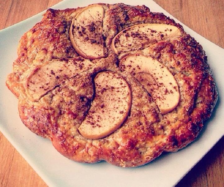 proteinkage opskrift - Æblekage