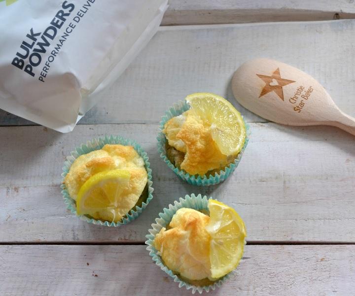 proteinkage citron marengs cupcake