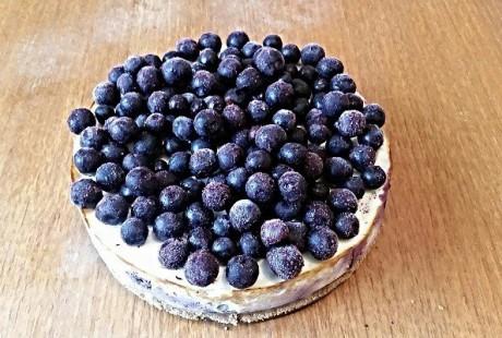 Blåbær Protein Cheesecake