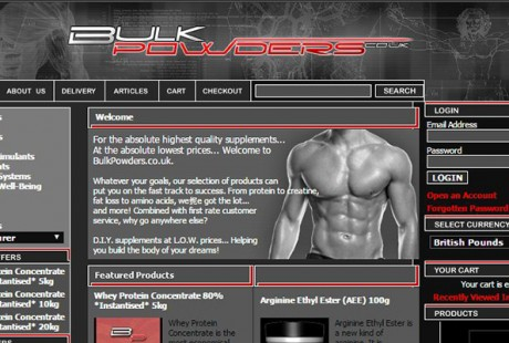 BULK POWDERS sitet gennem 10 år