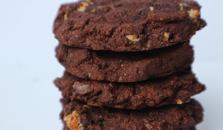 Triple chocolate protein cookie