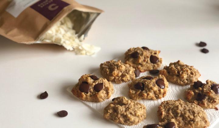 sunde cookies med havregryn kokosflager og cashewnødder