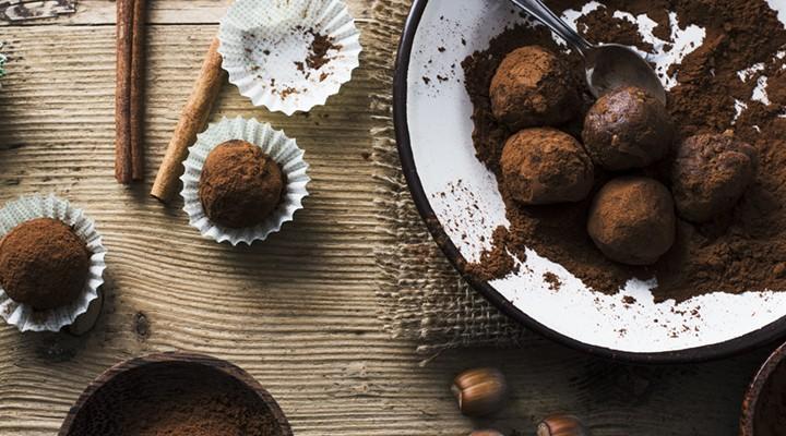 bolitas de chocolate proteicas