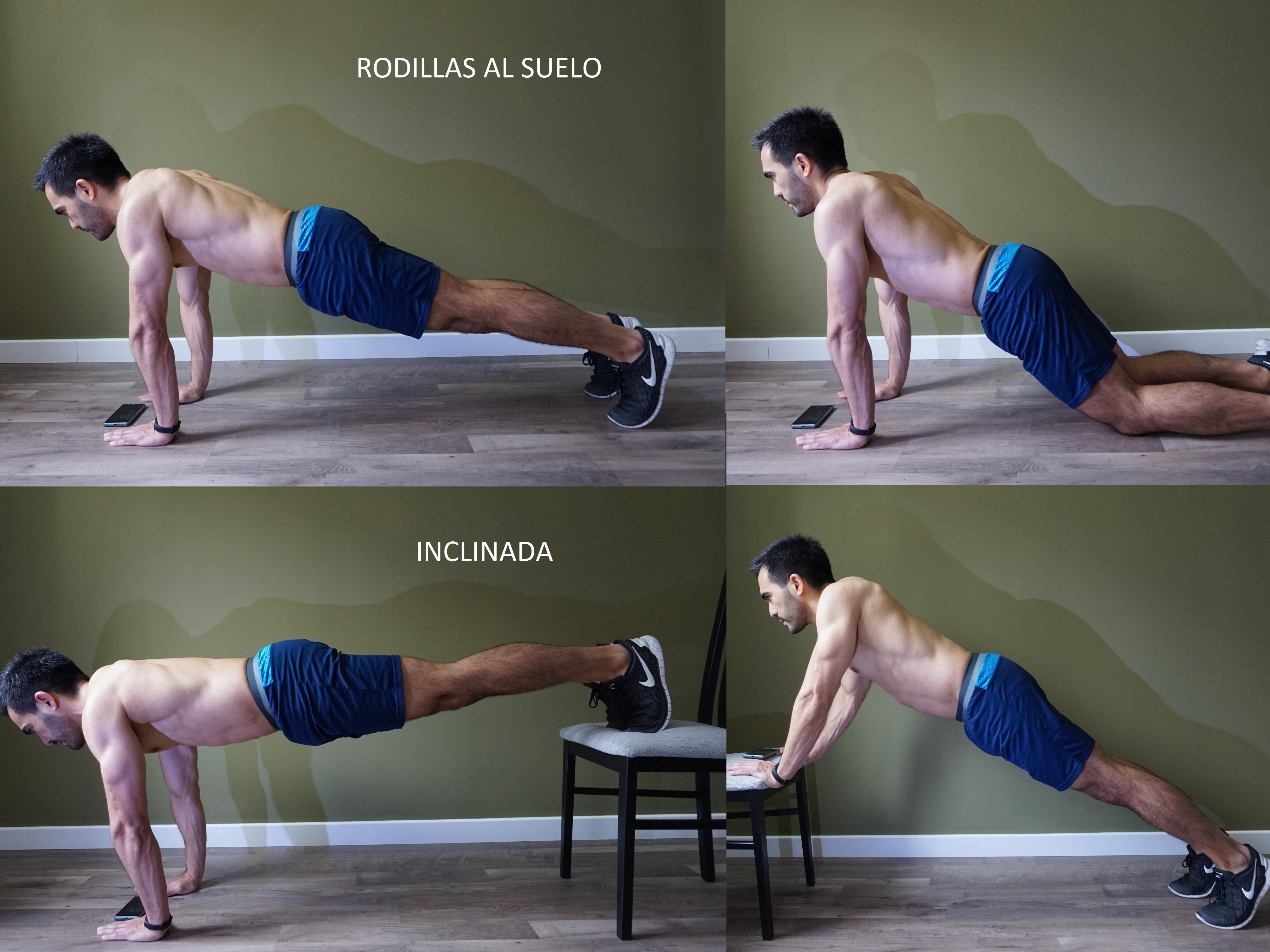 Hacer biceps con flexiones