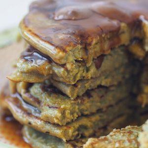 Close up Spinach Banana Pancake Recipe | Bulk Powders Ireland