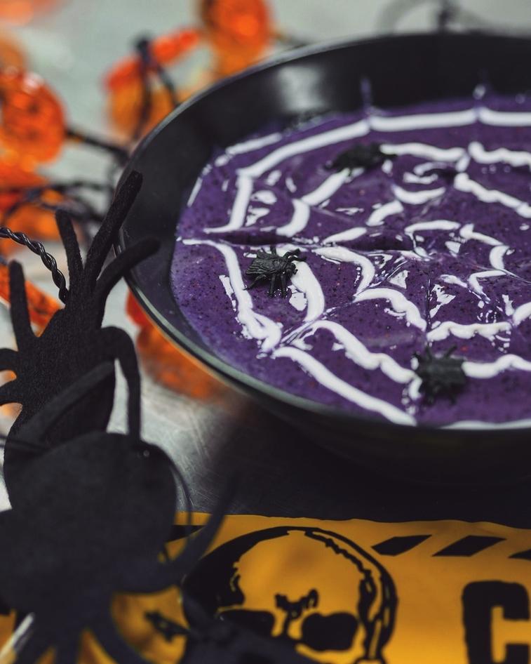 Spiderweb Smoothie Bowl Halloween Recipe | BulkPowders® Core
