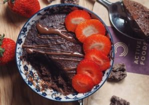 1 minute Vegan Brownie Cake | BULK POWDERS® Core Ireland