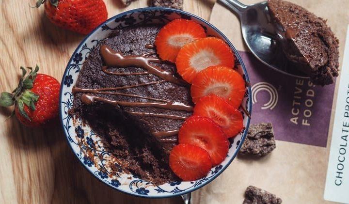 1 minute Vegan Brownie Cake | BULK POWDERS® Core Ireland