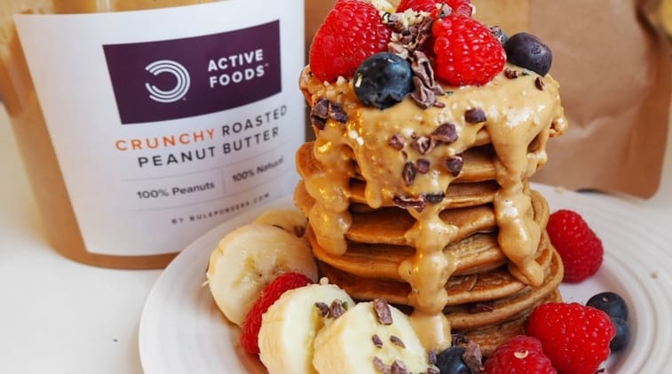 Double Peanut Butter Pancakes Recipe