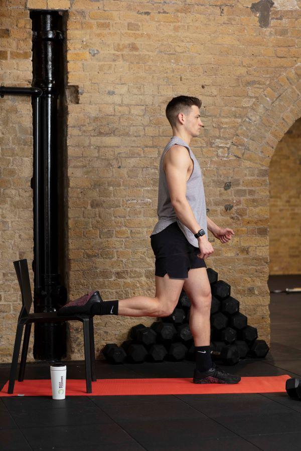 chair bulgarian split squat step 3
