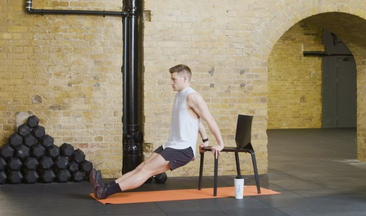 chair full-body home workout with alex cleland