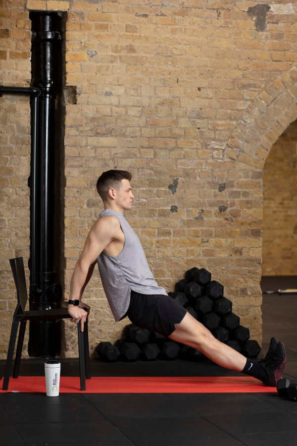 chair triceps dips step 2