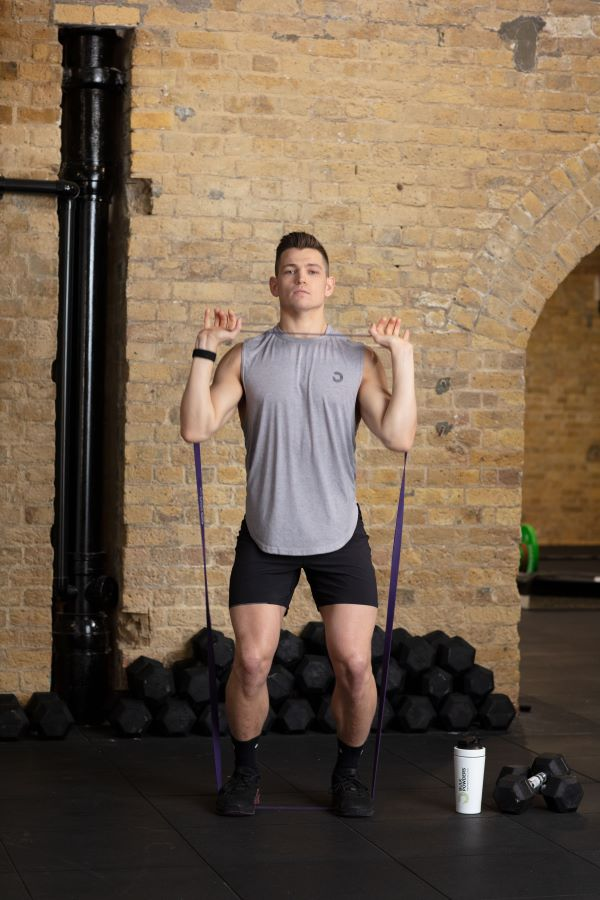 resistance band home workout step 1