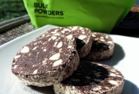 Salame al cioccolato, low carb e senza glutine