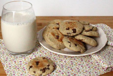 Biscotti light avena, banana e uvetta (vegan, senza zucchero)
