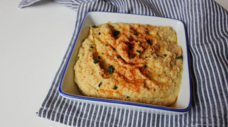 Hummus fatto in casa con spezie tandoori