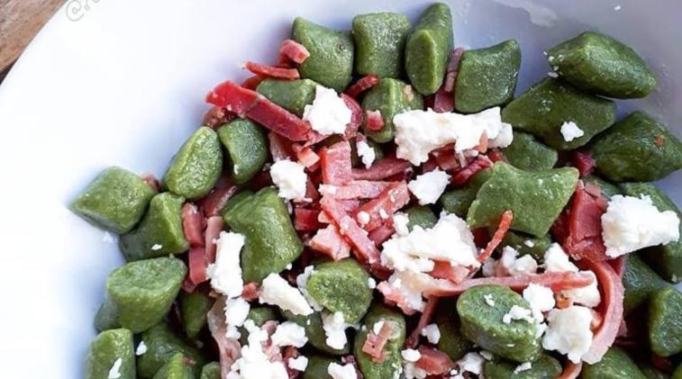 Gnocchetti di spinaci con farina di riso