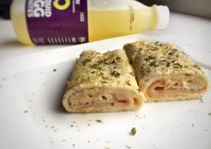 egg wrap - protein wrap - wrap met ei en kipfilet