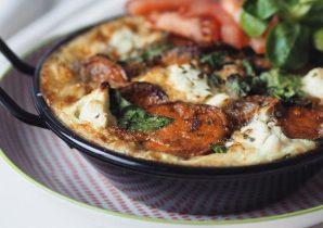 Gezonde Frittata met zoete aardappel en spinazie