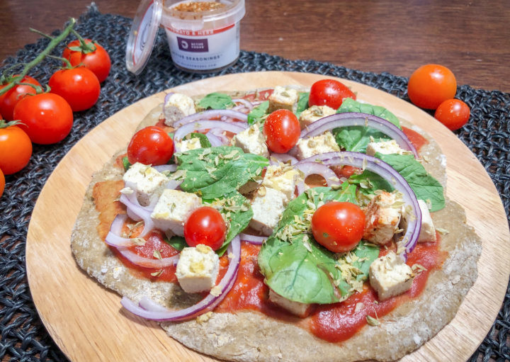 Vegan pizzabodem bulk powders food