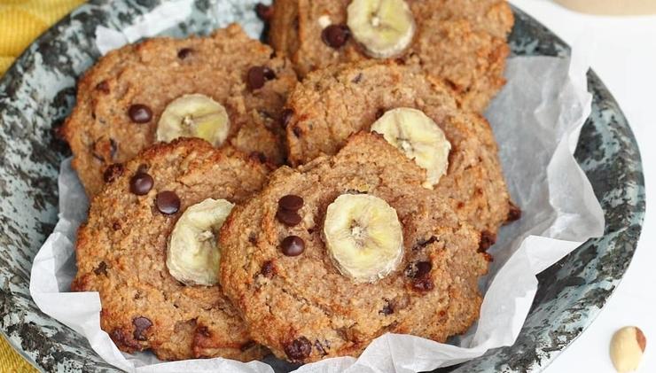 Ontbijtkoekjes met banaan & chocolade