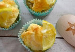 Receita de Cupcakes Proteicos de Merengue de Limão