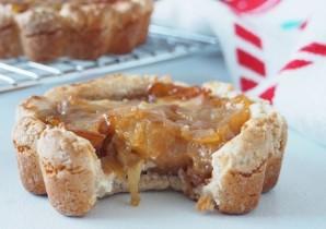 deliciosas tartes proteicas de mação com baixas calorias