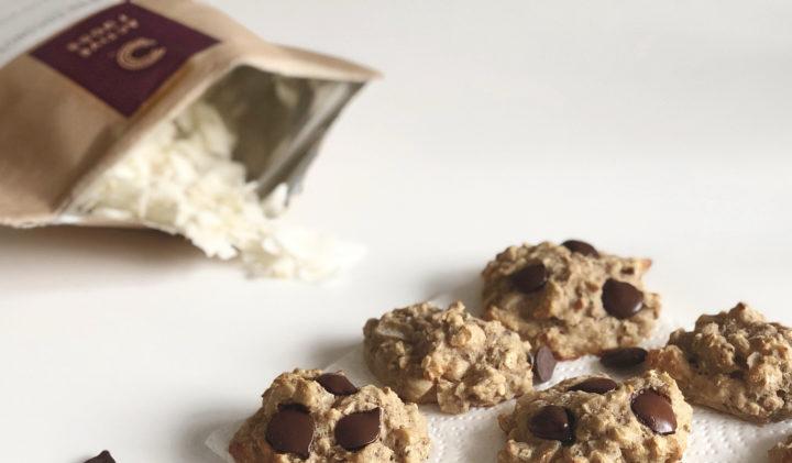 Receita de bolachas com pedaços de chocolate e proteina