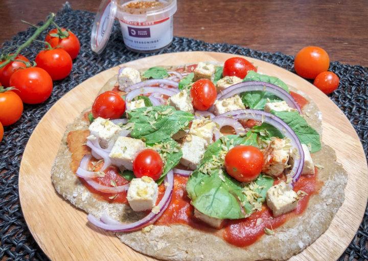 receita base pizza vegan