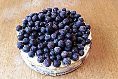 Blåbärscheesecake med protein