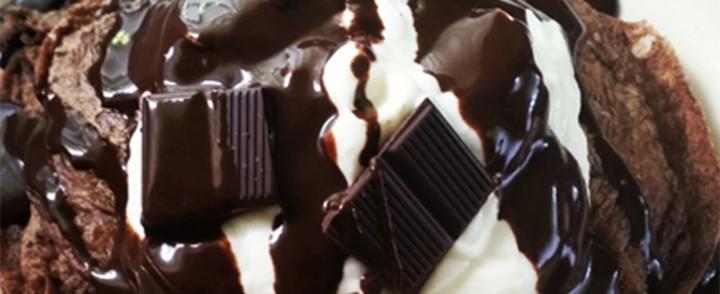 Double Chocolate Casein Protein Pancakes