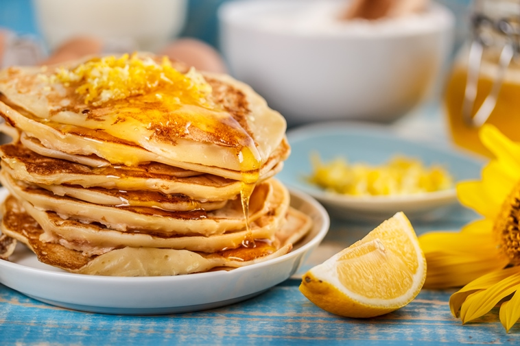 Maple and Lemon Protein Pancakes