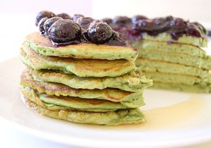 Spinach Blueberry Pancakes Recipe