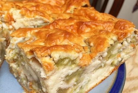 Rhubarb & Ginger Cake Bars Recipe