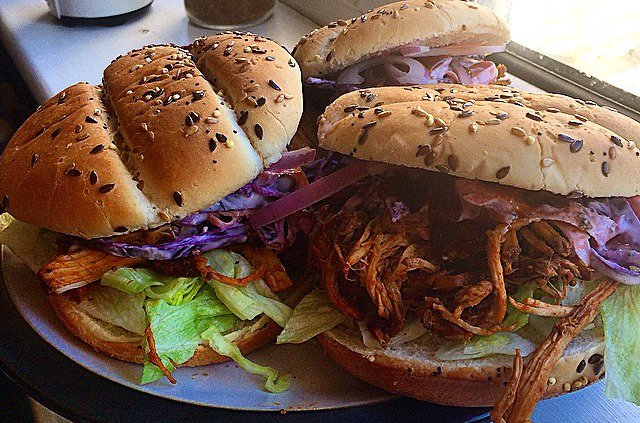Barbeque Pulled Pork Rolls