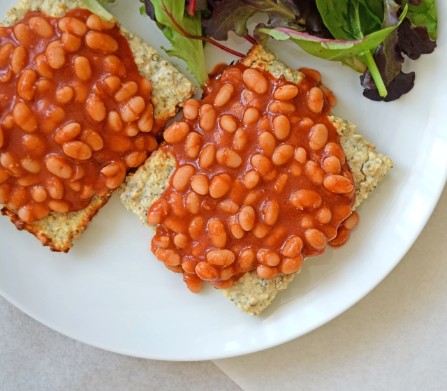 Baked Beans on Flatbread