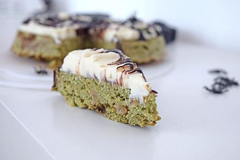 Halloween Matcha Cake
