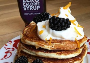 Orange & Blackberry Protein Pancakes